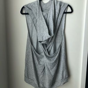 Athleisure Tank with Hood and Cutouts